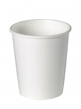 Стакан картонный одинарный под горячие напитки, Белый, 300 мл, 50 шт./упак.