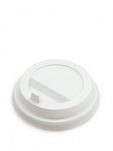 Крышка для картонных стаканов, Белая, 90 мм, 100 шт./упак.