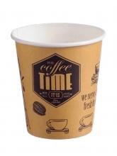 Стакан картонный одинарный под горячие напитки Coffee Time, 350 мл, 50 шт./упак.